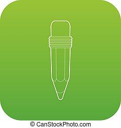 Pencil icon green vector