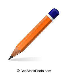 Pencil icon isolated on white background