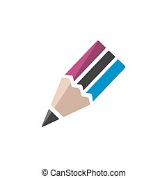Pencil icon on a white background. Vector illustration