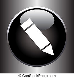 Pencil icon on black button