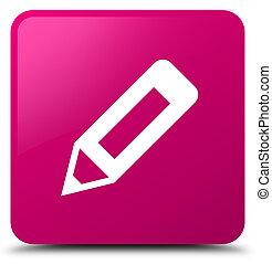 Pencil icon pink square button