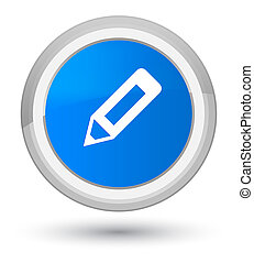 Pencil icon prime cyan blue round button