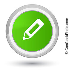 Pencil icon prime soft green round button