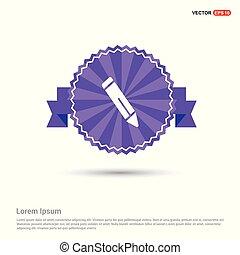 Pencil icon - Purple Ribbon banner