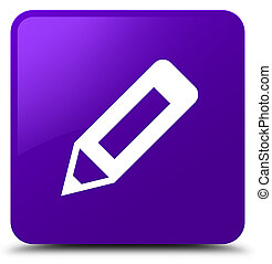 Pencil icon purple square button