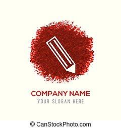 Pencil icon - Red Water Color Circle Splash