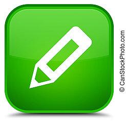 Pencil icon special green square button