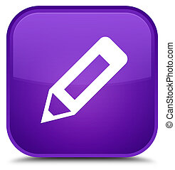 Pencil icon special purple square button