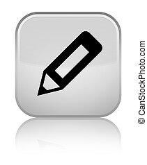 Pencil icon special white square button