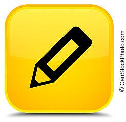 Pencil icon special yellow square button
