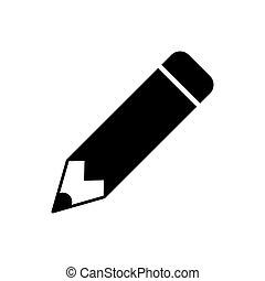 Pencil icon vector for graphic design, logo, web site, social media, mobile app, ui illustration