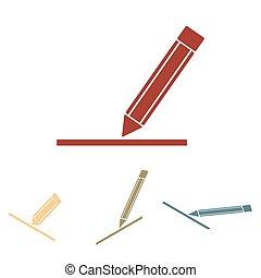 Pencil icon , vector illustration set.