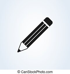 Pencil Icon Vector. Perfect Black pictogram illustration on white background