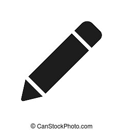 Pencil icon vector. Simple pencil sign in modern design style for web site and mobile app. EPS10