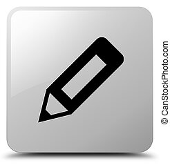 Pencil icon white square button