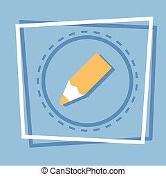 Pencil Icon Writing Web Button
