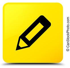 Pencil icon yellow square button