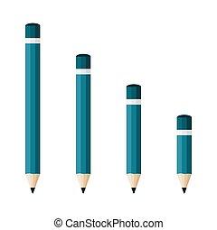 Pencil icons. Vector illustration