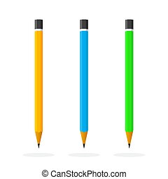 Pencil icons. Vector illustration