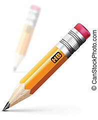 Pencil illustration - Realistic pencil vector illustration ...