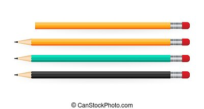 Pencil in a realistic style for various web sites. Vector stock illustration.