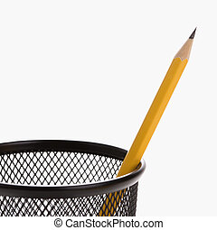 Pencil in holder.