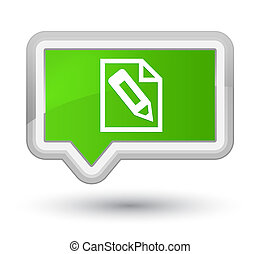 Pencil in page icon prime soft green banner button