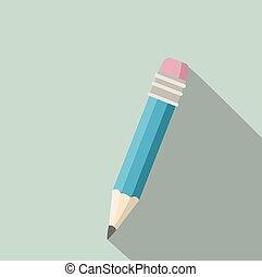 pencil in retro style