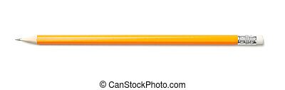 Pencil isolated on white background, top view
