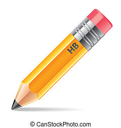 Pencil isolated on white vector illustration
