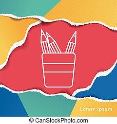 pencil line icon