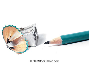 Pencil - Making the sharp of a pencil .