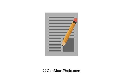 Pencil marking on sheet HD animation - Pencil marking on...