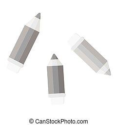 Pencil monochrome icon. Illustration for web and mobile design.