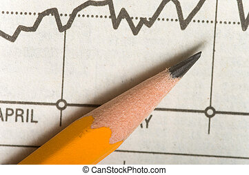 Pencil on chart