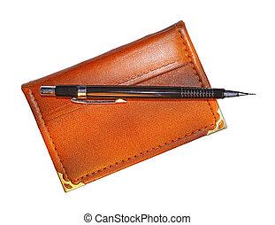 Pencil on pocket-book