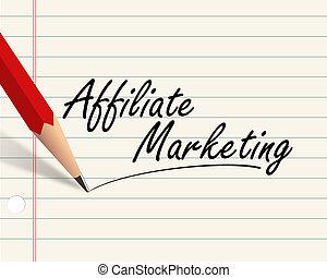 Pencil paper - affiliate marketing