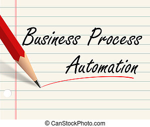 Pencil paper - business process automation