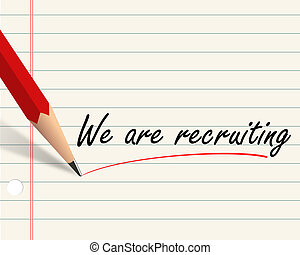Pencil paper - we are recruiting - Illustration of pencil ...