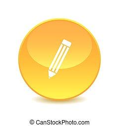pencil , pencil icon Vector on the background , vector