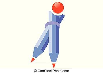 pencil people logo vector