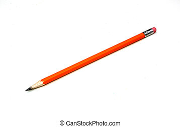 pencil - a pencil shot over a white background