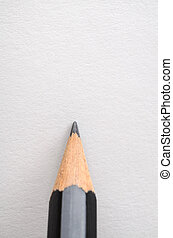 Pencil Poised on Blank White Paper