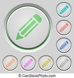 Pencil push buttons