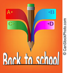 pencil ribbon banner back to school