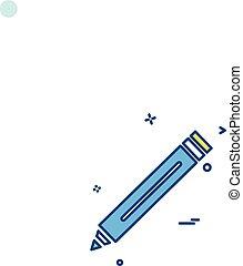 pencil school icon vector design