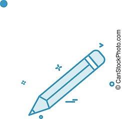 pencil school vector icon design