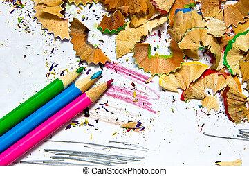 Pencil sharpener waste