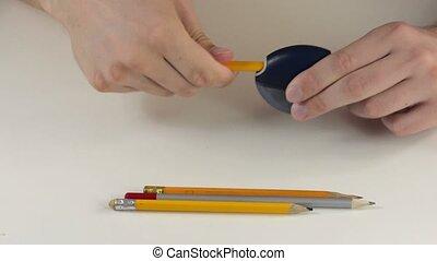 Pencil sharpener working
