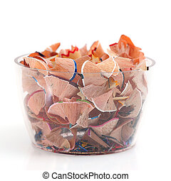 Pencil Shavings in Glass